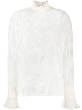 White See By Chloé Floral Lace Blouse   Farfetch.com
