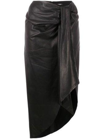 Balmain Lamb Skin Sarong Skirt - Farfetch