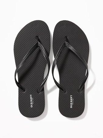 Classic Flip-Flops for Women - Black