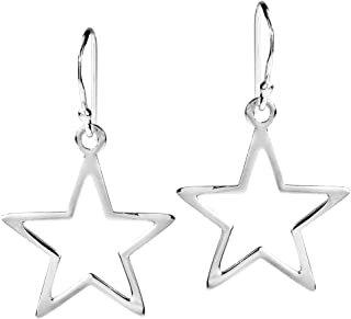 silver star earrings - Google Search