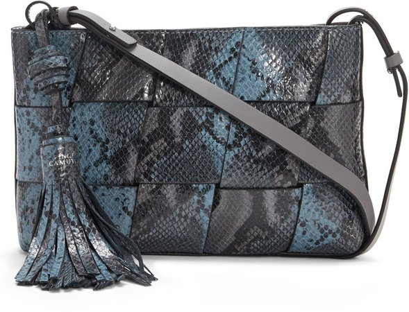 Josy Woven Leather Crossbody Bag