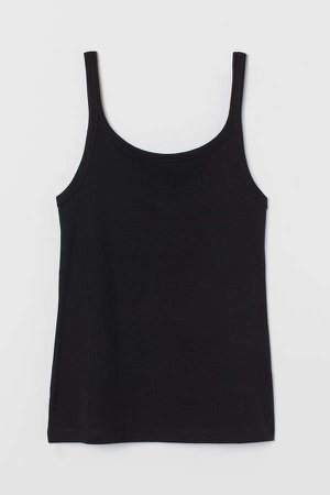 Cotton Tank Top - Black