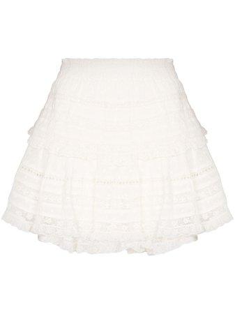 LoveShackFancy Ruffle Mini Skirt - Farfetch