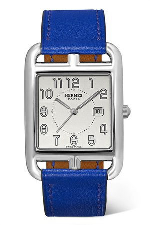 Hermès Timepieces | Cape Cod 29mm medium stainless steel and leather watch | NET-A-PORTER.COM