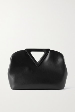 Point Medium Leather Tote - Black
