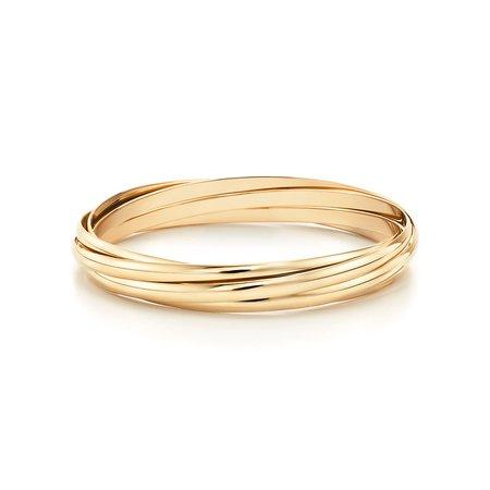 Paloma's Melody five-band bangle in 18k gold, medium. | Tiffany & Co.