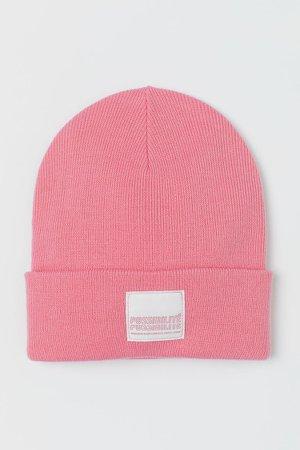 Fine-knit Hat - Pink