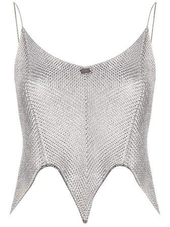 Chanel Pre-Owned 2010 metallic-sheen Crop Top - Farfetch