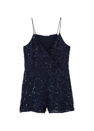 MANGO Embroidered sequins jumpsuit