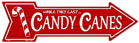 Amazon.com: Smart Blonde Outdoor Decor Candy Canes Novelty Metal Arrow Sign A-160: Home & Kitchen