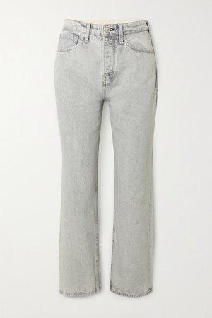 Maya High-rise Straight-leg Jeans - Gray