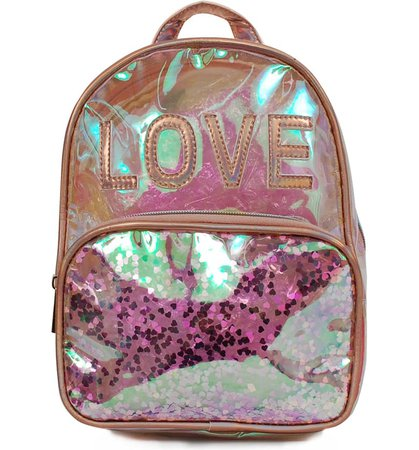 OMG Love Iridescent Mini Backpack (Kids) | Nordstrom