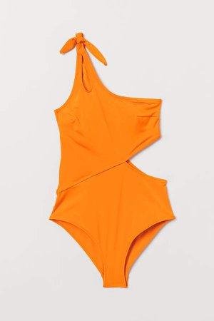 One-shoulder Swimsuit - Orange
