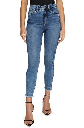 Good American Good Waist High Waist Crop Skinny Jeans | Nordstrom