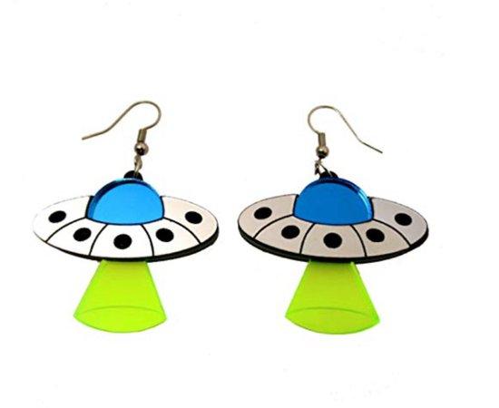 space ship earrings