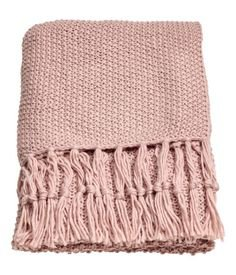 pale pink throw blanket
