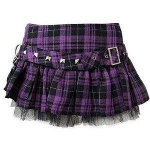 Purple Punk/Goth Skirt