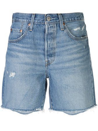 Levi's 501 Denim Mid-Thigh Shorts 858330002 Blue | Farfetch