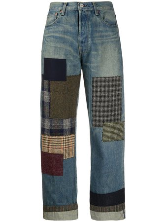 Junya Watanabe Patchwork Boyfriend Jeans - Farfetch