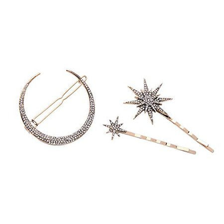 Amazon.com : Hair Barrettes Hair Clips Women - CINRA Hair Accessories Hair Pins for Girls Thick Hair Styling Fashion Jewelry Alloy Diamond-studded Moon Star Pendant : Beauty