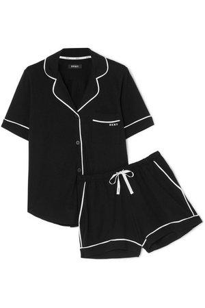DKNY | Signature cotton-blend jersey pajama set | NET-A-PORTER.COM