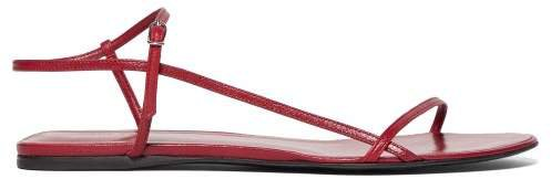 Bare Leather Sandals - Womens - Red