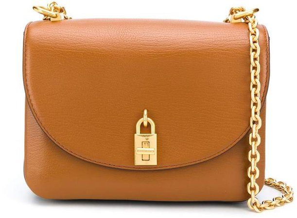 Foldover Padlock Shoulder Bag