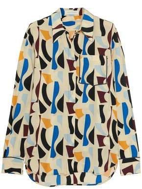 Printed Silk-satin Shirt