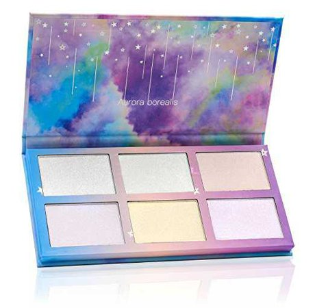 Amazon.com : TZ COSMETIX - Aurora Borealis 6 Colors Highlighter / Glow Kit - Wet Soft Cream Powder Illuminating Makeup Palette - with Rainbow Star Box tz-6fb : Beauty