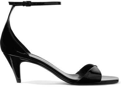 Charlotte Patent-leather Sandals - Black