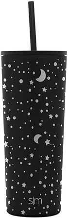 Amazon.com: Simple Modern Classic Insulated Tumbler with Straw and Flip or Clear Lid Stainless Steel Water Bottle Iced Coffee Travel Mug Cup, 24oz, Pattern: Floral Swirl: Kitchen & Dining