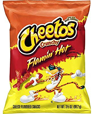 Cheetos Crunchy Flamin' Hot Cheese Flavored Snacks - 3.5oz: Amazon.co.uk: Grocery