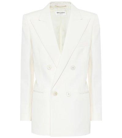 Wool-Twill White Blazer
