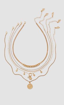 Σετ 5 κολιέ - Κοσμηματα γυναικεία | Stradivarius Greek