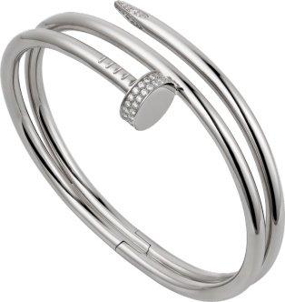 CRN6708517 - Juste un Clou bracelet - White gold, diamonds - Cartier