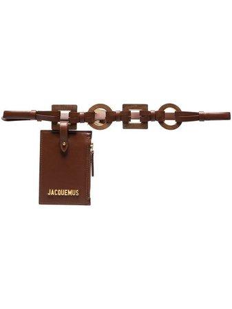 Shop Jacquemus JACQU LA CNTR CRE LTHR BLT BG with Express Delivery - FARFETCH