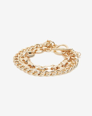 Thick Multi-row Chain Bracelet | Express