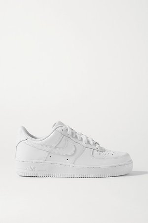 Air Force I Leather Sneakers - White