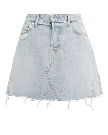 Eva Light Blue Denim Skirt