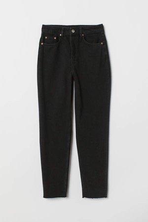 Slim Mom Jeans - Black