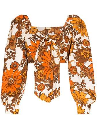 Dodo Bar Or Biby Floral Tie-Front Top Ss20 | Farfetch.com