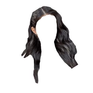 dark brown hair png clips blonde/white streaks