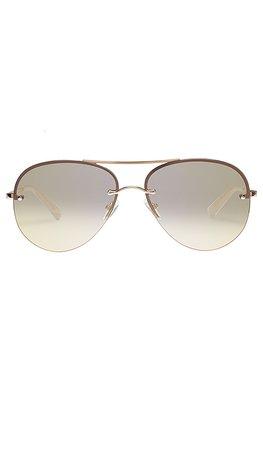 Le Specs Panarea in Gold | REVOLVE