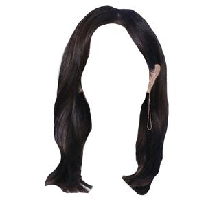 short dark brown black hair png