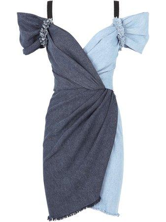 Dolce & Gabbana two-tone Denim Dress - Farfetch