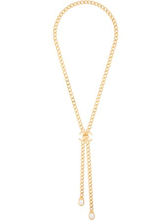 Chanel Pre-Owned 1997 Cc Pendant Necklace Vintage | Farfetch.com