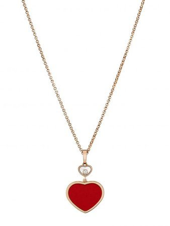 Chopard | Happy Hearts Pendant - 18-carat rose gold and red stone | 797482-5801