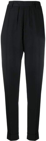 tapered high-waisted trousers