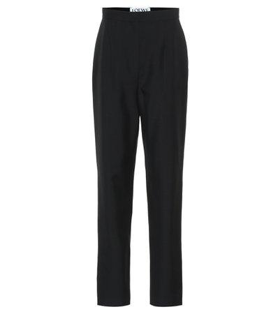 Loewe, High-rise wool pants