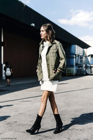 Le Fashion: Steal Alexa Chung's Fringed Sweater Dress Look